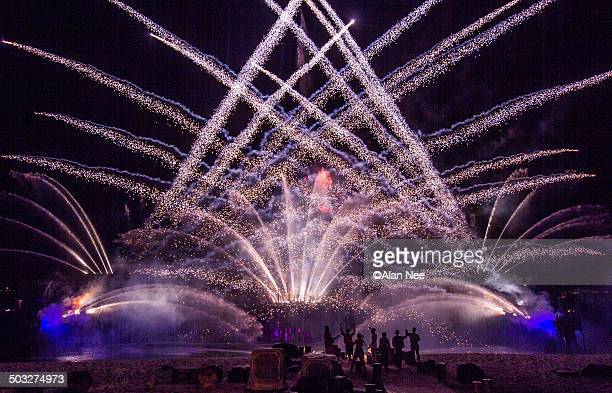 fireworks in santosa, singapore - nee nee stock pictures, royalty-free photos & images
