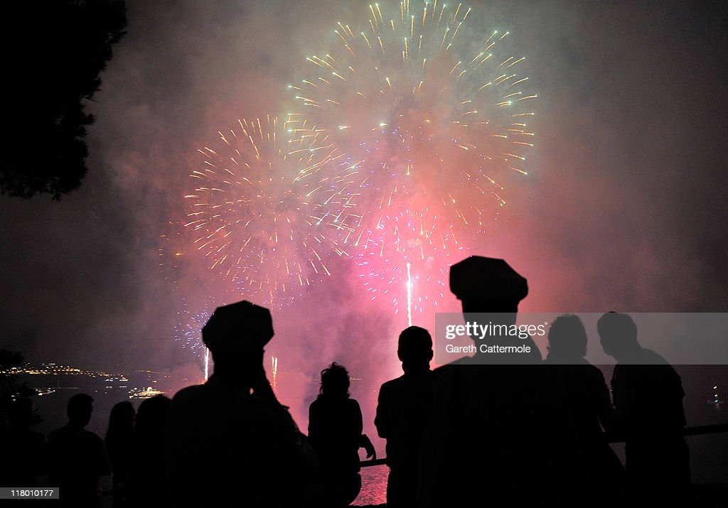 Fireworks light up the harbour after the religious ceremony of the Royal Wedding of Prince Albert II of Monaco to Charlene Wittstock on July 2, 2011 in Monaco, Monaco. The Roman-Catholic ceremony follows the civil wedding which was held in the Throne Room of the Prince's Palace of Monaco on July 1. With her marriage to the head of state of the Principality of Monaco, Charlene Wittstock will become Princess consort of Monaco and gain the title, Princess Charlene of Monaco. Celebrations including concerts and firework displays are being held across several days, attended by a guest list of global celebrities and heads of state.