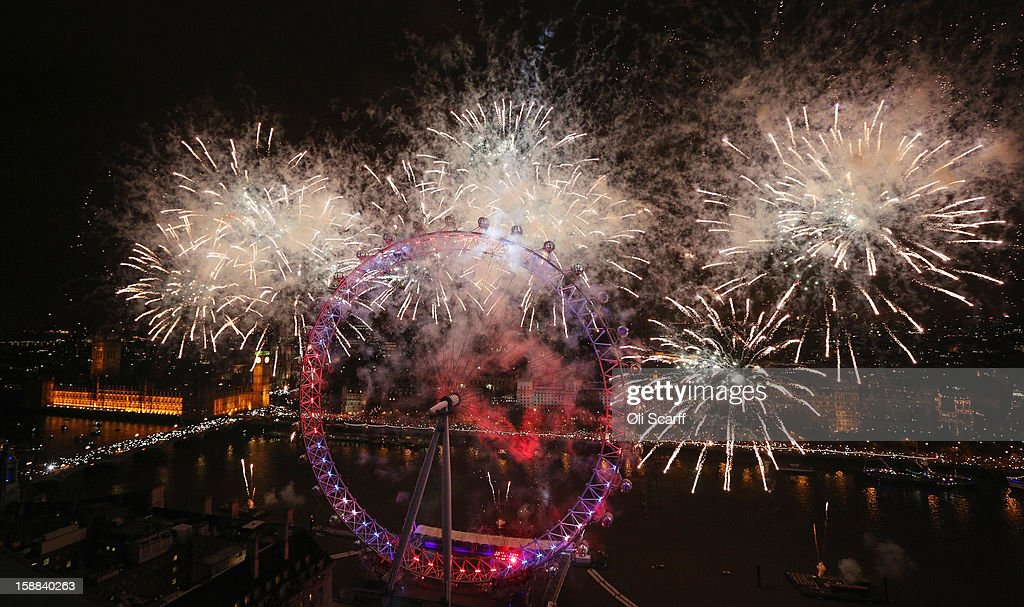 Fireworks light up the London skyline and Big Ben just after midnight on January 1, 2013 in London, England. Thousands of people lined the banks of the River Thames near Parliament in central London to herald the start of 2013.