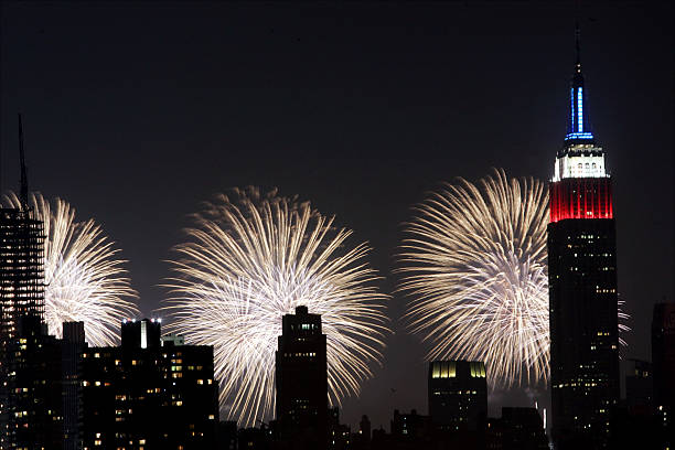 Fireworks light up the sky above Manhattan during the 30th a