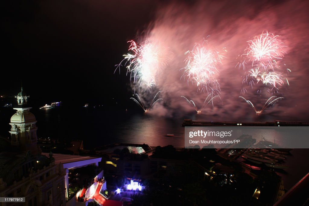Fireworks light up the sky and harbour in front of the Mante Carlo Casino after the religious ceremony of the Royal Wedding of Prince Albert II of Monaco to Charlene Wittstock on July 2, 2011 in Monaco, Monaco. The Roman-Catholic ceremony follows the civil wedding which was held in the Throne Room of the Prince's Palace of Monaco on July 1. With her marriage to the head of state of the Principality of Monaco, Charlene Wittstock will become Princess consort of Monaco and gain the title, Princess Charlene of Monaco. Celebrations including concerts and firework displays are being held across several days, attended by a guest list of global celebrities and heads of state.