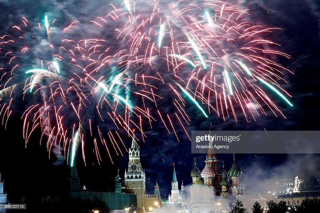 New Year Celebration in Moscow : News Photo