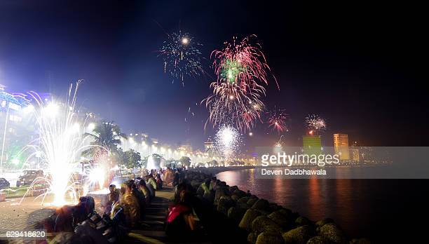 fireworks - mumbai - diwali celebration stock photos and pictures