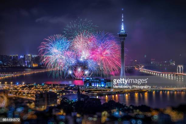 Fireworks Night in Macau.