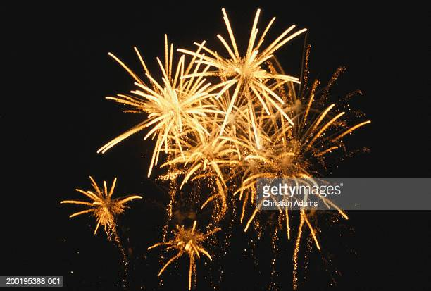 fireworks, night, low angle view - firework display stock pictures, royalty-free photos & images