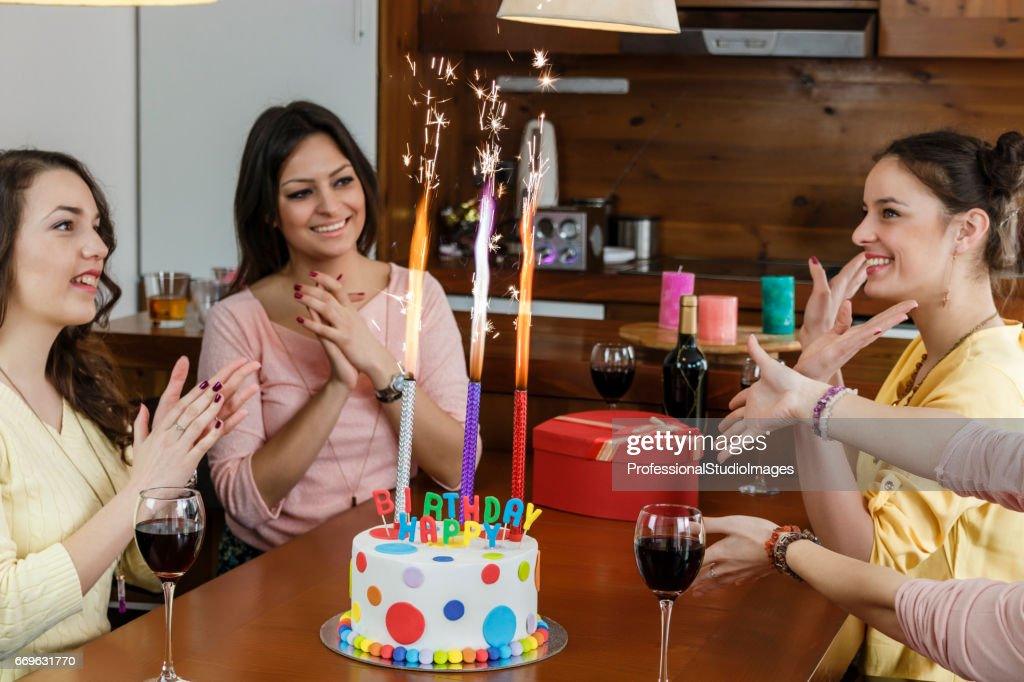 Amazing Fireworks On A Birthday Cake Stock Photo Getty Images Funny Birthday Cards Online Alyptdamsfinfo