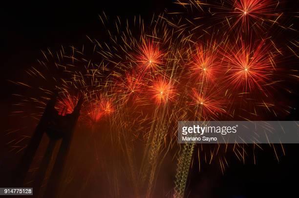 Fireworks on display