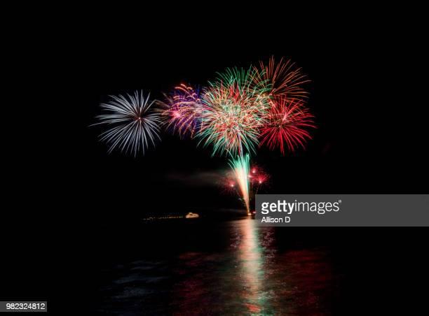 Fireworks on Lake Toya, Japan