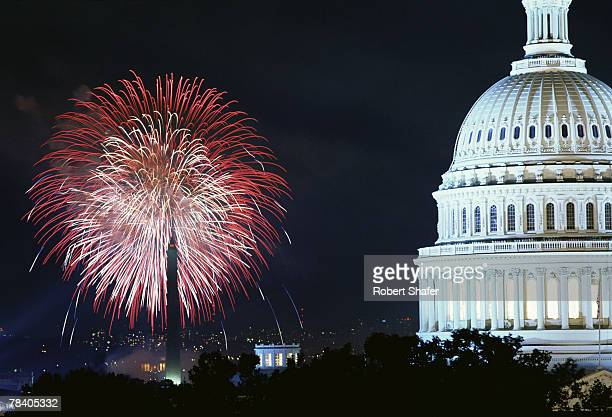 Fireworks on the Fourth of July, Washington, D.C.