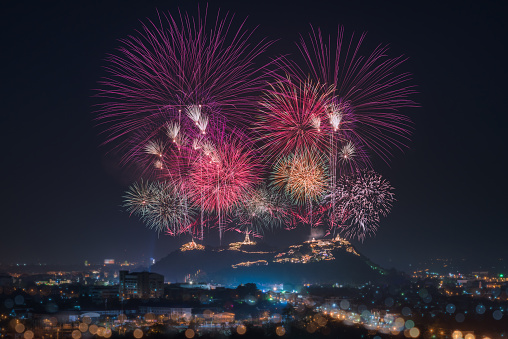 Fireworks on the Mountain - gettyimageskorea