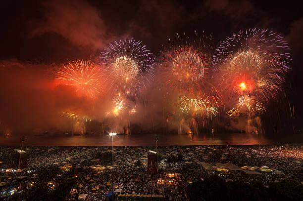 Fireworks over Copacabana