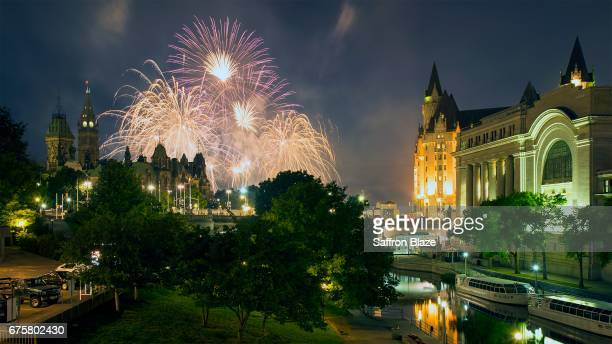 Fireworks over Parliament Hill