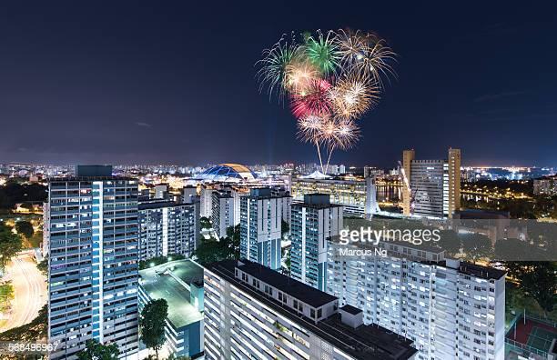 Fireworks over Singapore Sports Hub