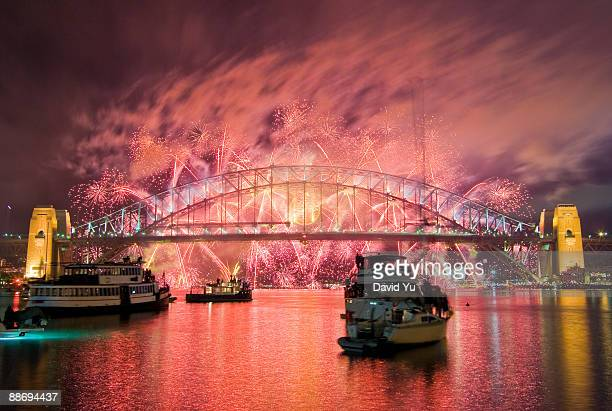 Fireworks over Sydney Harbour Bridge
