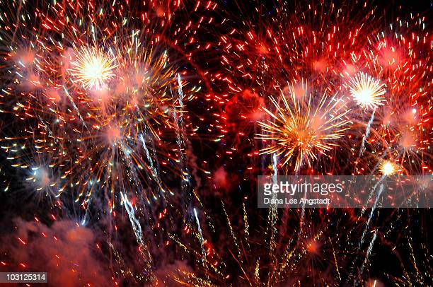 fireworks - rye new york stockfoto's en -beelden
