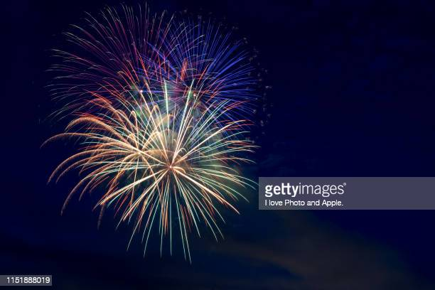 fireworks - july stock pictures, royalty-free photos & images