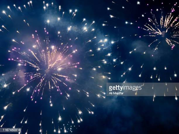 fireworks - celebration stock pictures, royalty-free photos & images