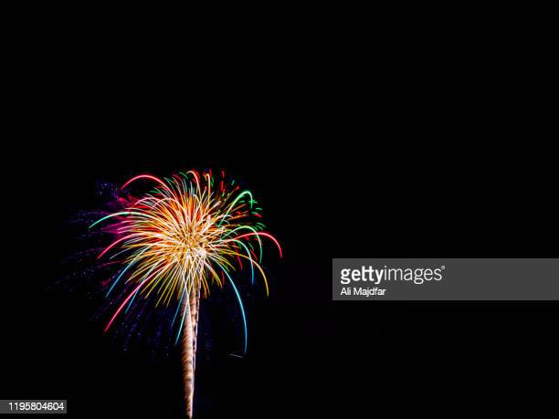 fireworks - anniversary stock pictures, royalty-free photos & images