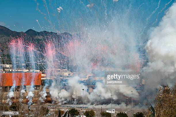 fireworks - castellon de la plana stock pictures, royalty-free photos & images