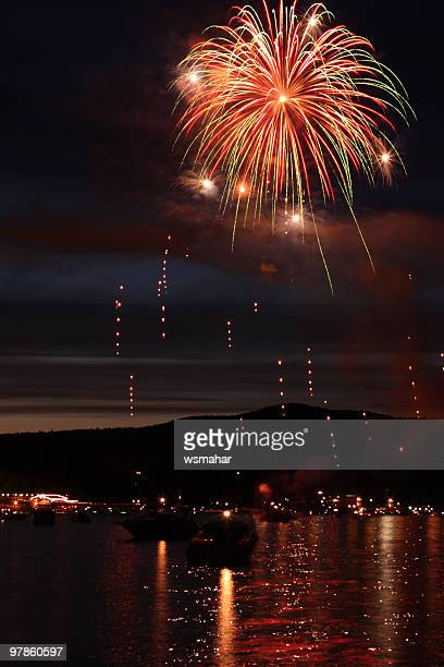 fireworks - lake george new york stock pictures, royalty-free photos & images