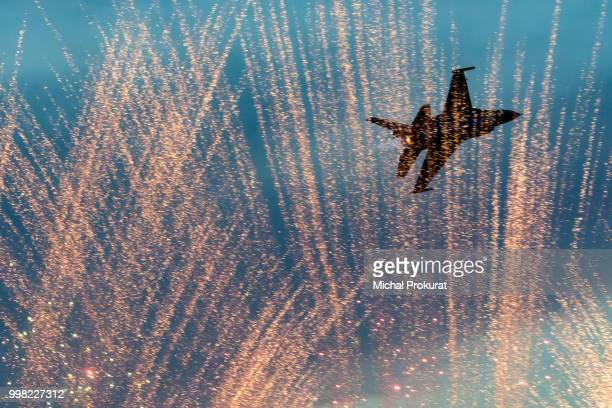 F-16 & fireworks