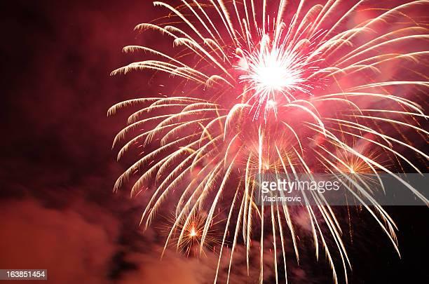 Feuerwerk Rot Nähe