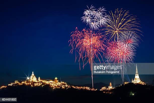 Fireworks show over Khao wang