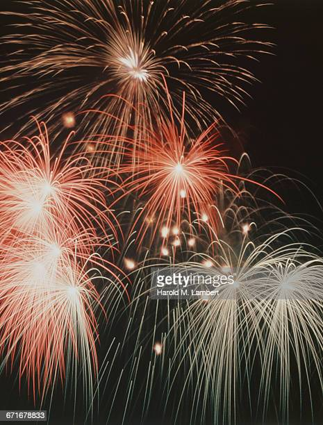 fireworks show  - number of people stock pictures, royalty-free photos & images