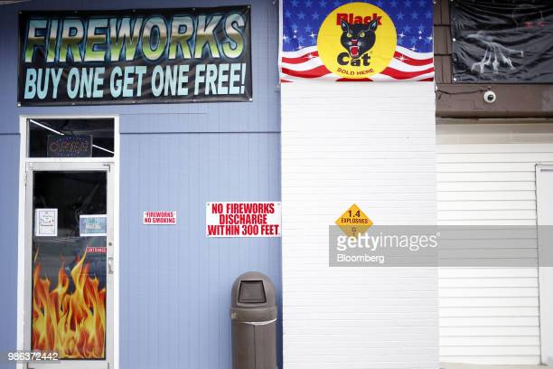 A fireworks store stands in Muldraugh Kentucky US on Wednesday June 27 2018 According to the American Pyrotechnics Association the US fireworks...
