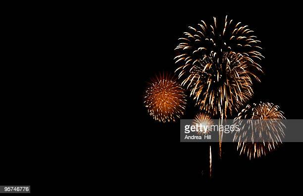 fireworks with copy space - july stock pictures, royalty-free photos & images