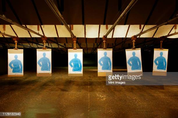 firing range - target shooting stock pictures, royalty-free photos & images
