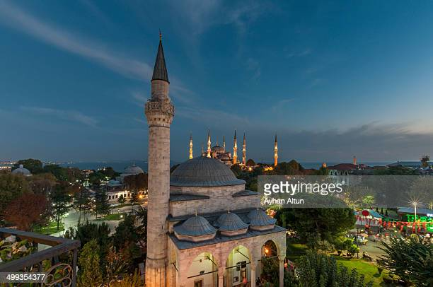 CONTENT] Firiuzaga Mosque and The Blue mosque in the backround