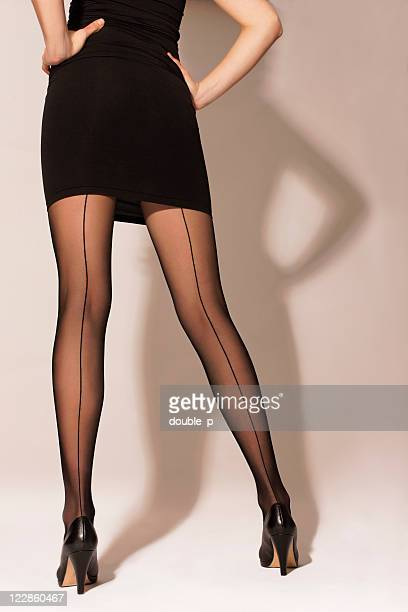 firm stance - mini skirt stockings stock pictures, royalty-free photos & images