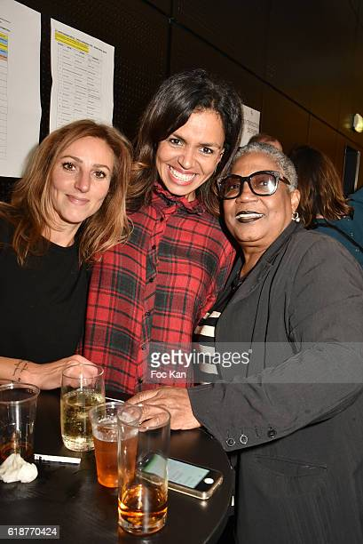 Firmine Richard Laurence Roustandjee and make up artist Isabelle Theviot attend the Chocolate fashion show as a part of the Salon Du Chocolat 2016...