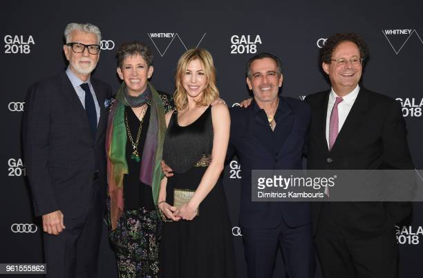 Firooz Zahedi Beth Rudin DeWoody Jill Bikoff J Darius Bikoff and Director of Whitney Adam Weinberg attends the 2018 Whitney Gala Sponsored By Audi on...