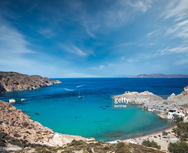 firopotamos beach in milos - aegean sea stock pictures, royalty-free photos & images