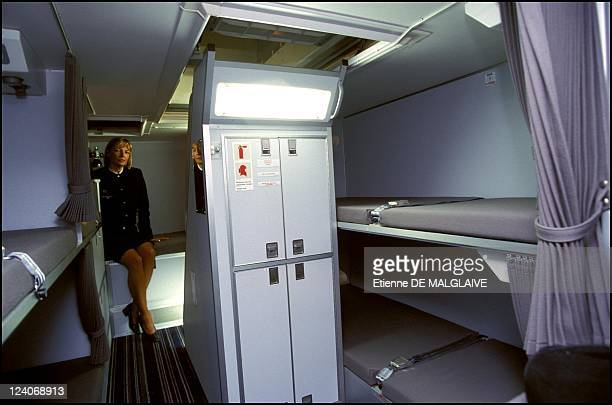 First a 330 delivery to Air France In Toulouse France On December 17 2001 Rest compartment in cargo hold for cabin crew