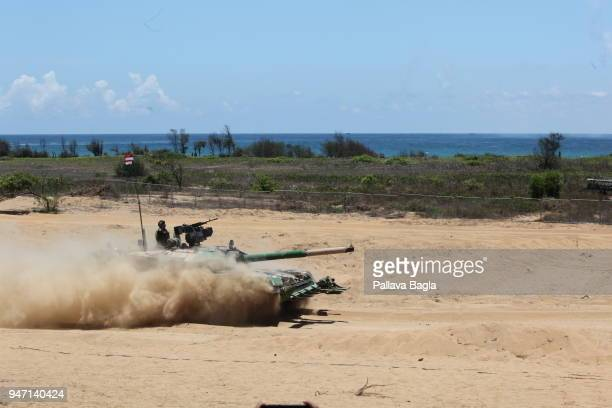 First action look of the Main Battle Tank ARJUN Mark II showing its prowes on the beach This is a made in India tank Indian armed forces air force...