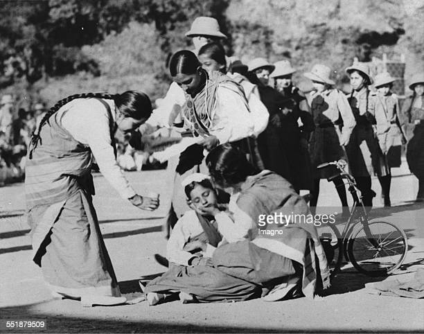 First Aid at the Scout and Girl Guide Rally in Simla. 5th June 1935. Photograph.