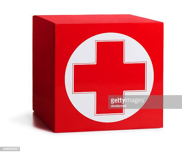 first aid box on white - medical symbol stock pictures, royalty-free photos & images