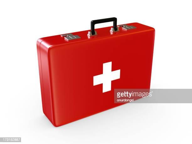 Maletín de primeros auxilios, con trazado de recorte