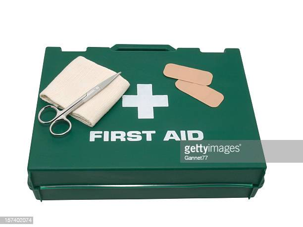 first aid kit isolated on background - first aid kit stock pictures, royalty-free photos & images