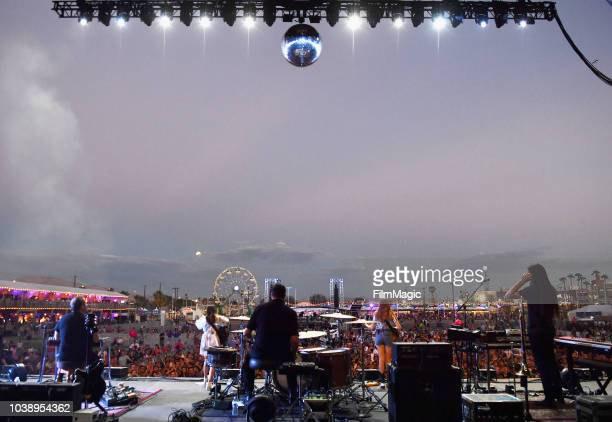 First Aid Kit performs on Downtown Stage during the 2018 Life Is Beautiful Festival on September 23 2018 in Las Vegas Nevada