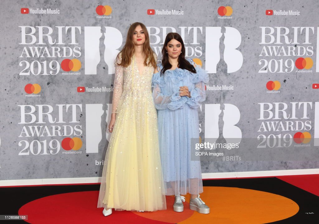 First Aid Kit seen on the red carpet during The BRIT Awards