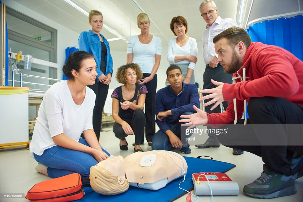 first aid training class : Stock Photo