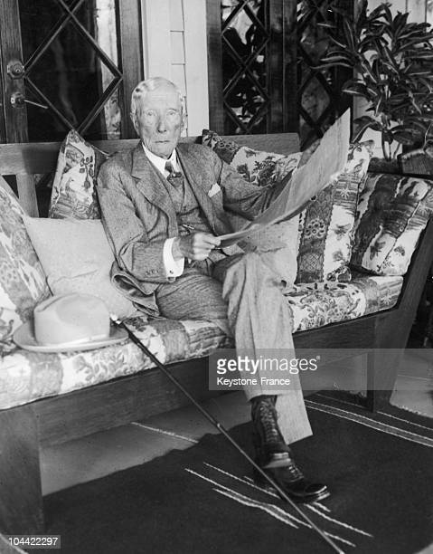 First And Only Picture Ever Taken Of John Rockefeller In His Home