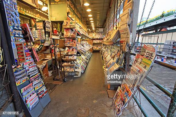 first and pike news, seattle, washington - magazine rack stock photos and pictures