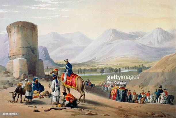 First AngloAfghan War 18381842 The British army passing through the Meyden valley on the march from Meyden to Urghundee The British fought the...