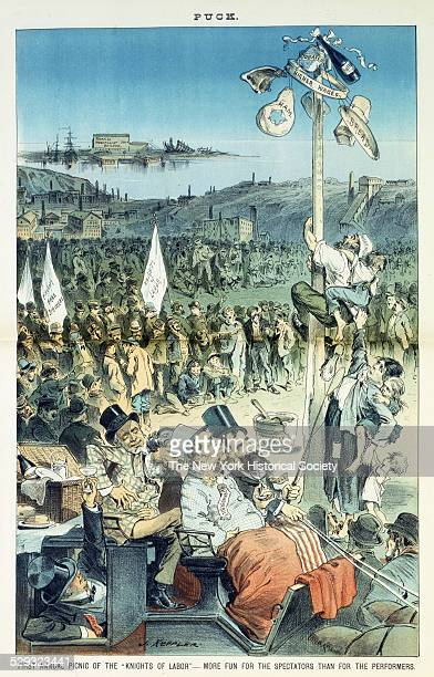 First annual picnic of the 'Knights of Labor' more fun for the spectators than for the performers June 21 1882 Print shows Jay Gould William H...