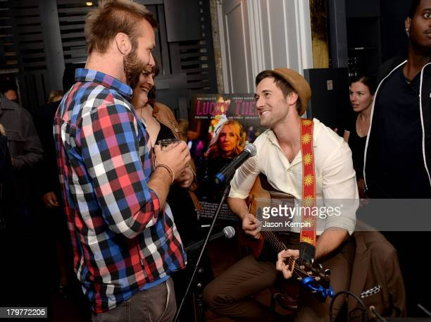 First assistant director Scott Larkin and actor Ryan Eggold attend the 'Lucky Them' World Premiere After Party AMC Storys Toronto International Film...